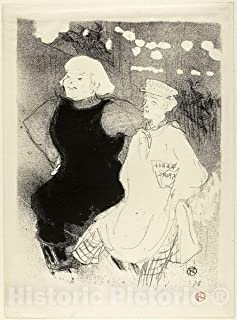 Historic Pictoric Print : at The Moulin Rouge: The Franco-Russian Alliance, Henri de Toulouse-Lautrec, c 1897, Vintage Wall Decor : 36in x 48in