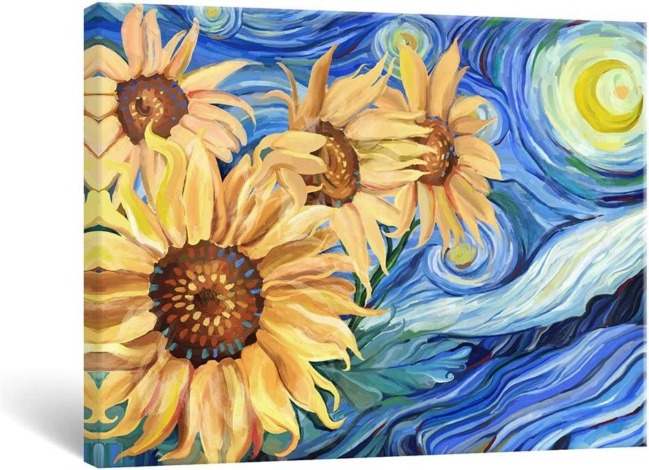 Xstar Luxury goods Sunflowers Wall Art Bathroom Charlotte Mall Prints Canvas Floral Painting