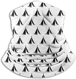 Custom made Geometriskt tipi-tält svart och vit mun- och nässkydd, återanvändbar bandana halv ansikte mun skyddskåpa, tvät...