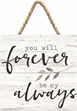 P. Graham Dunn Forever Be My Always Whitewash 7 x 7 Inch Wood Pallet Wall Hanging Sign
