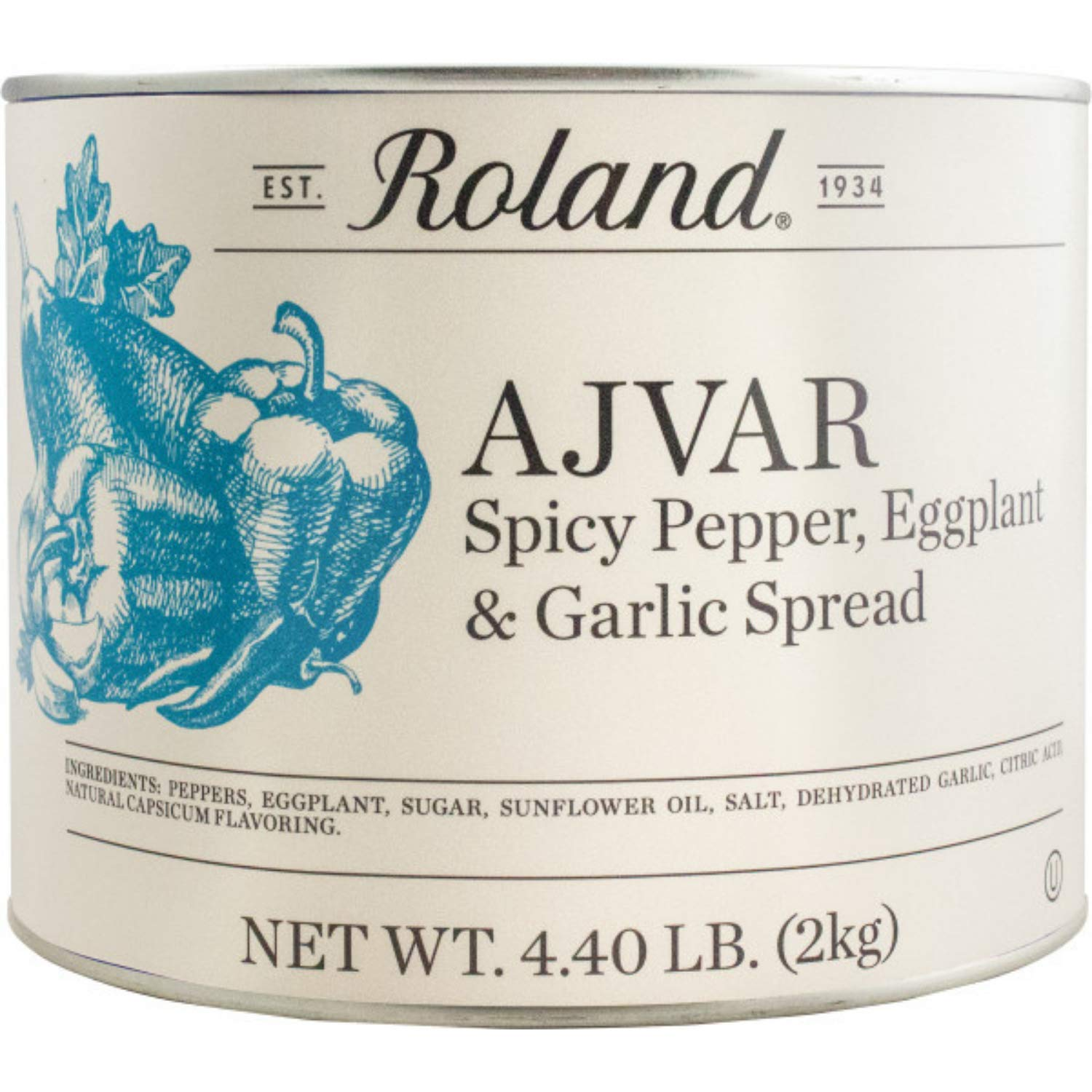 Roland Foods Ajvar with service Spicy Garlic Ranking TOP15 Pepper and Spead Eggplant