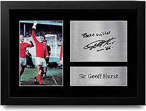 HWC Trading FR A4 Geoff Hurst England geschenken afgedrukt ondertekend handtekening foto voor fans en supporters - A4 inge...