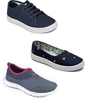 ASIAN Multicolor Shoes Combo for Women Pack of 3