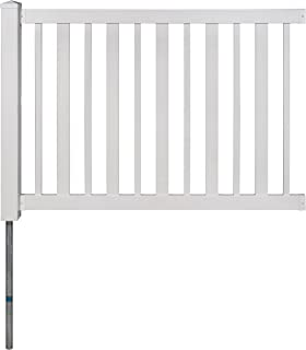 WamBam No-Dig BL19103 Sturbridge Vinyl Fence, 4' Tall by 6' Wide, White