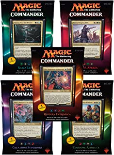 Magic the Gathering Commander (2016) Decks Display (5) italian Wizards Coast Trading cards