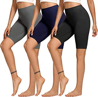 TNNZEET Slip Shorts for Women – Biker Shorts Legging for Yoga Workout Running Boyshorts Long Leg Multipack
