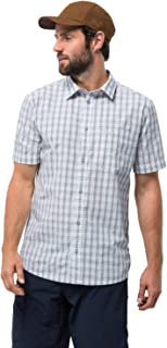 Men's Hot Springs Shirt Short Sleeve Plaid Casual Shirt