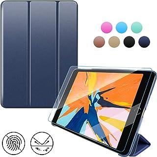 Utryit iPad Mini123 ケース タブレットカバー PC 超軽量&超薄型デザイン スタンド 三つ折タイプ[Mini123 ケース+ギフト]対応 (モデル番号A1432、A1454、A1455、A1489、A1490、A1491、A1599、A1600、A1601)-深い青