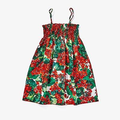 Dolce & Gabbana Kids Portofino Print Poplin Sundress (Big Kids) (Geranium Print) Girl