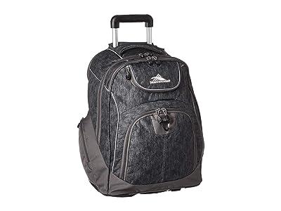 High Sierra Powerglide Wheeled Backpack (Fabric Tex/Slate) Backpack Bags
