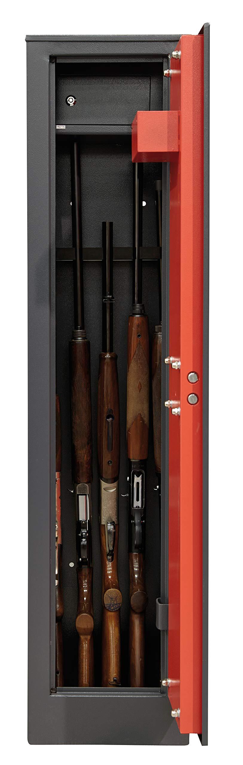 Armero de arma larga para 5 escopetas gris oscuro Arregui APF.4KTADV