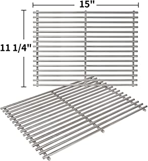 SHINESTAR 7522 Stainless Steel Grates Replacement for Weber Spirit 210 Grill Grates with Side Control Panel, 15 x 11 Cooking Grates for Weber Spirit e210 Spirit 500 Genesis Silver A Grates Parts