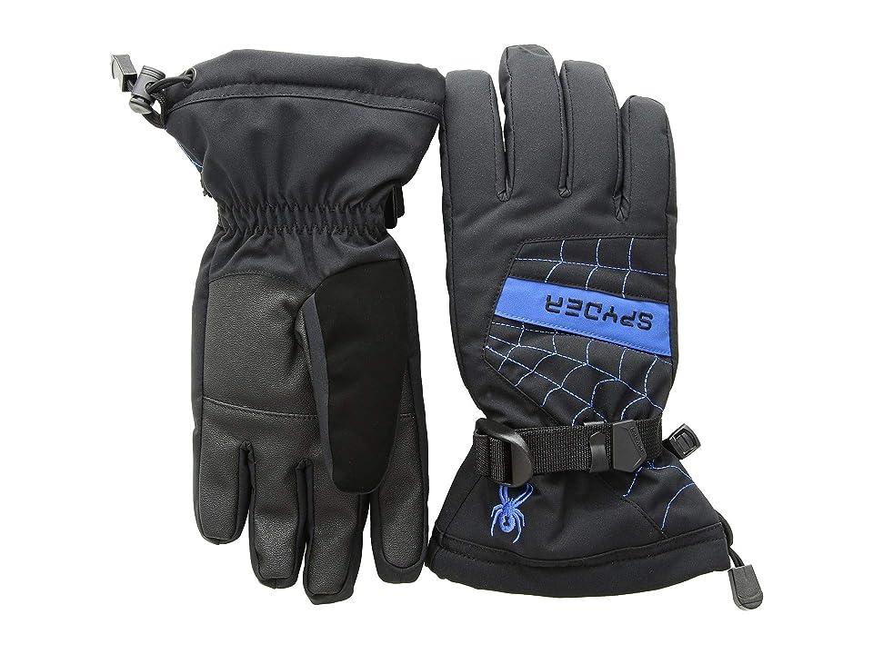 Spyder Kids Overweb Ski Gloves (Little Kids/Big Kids) (Black/Turkish Sea) Ski Gloves