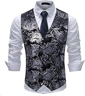 c6bba34cce7 Cloudstyle Mens Single Breasted Vest Dress Vest Slim Fit Button Down Prom  Formal Suit Vest Waistcoat
