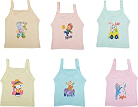 SHOPCASH Kids Regular Fit Cotton Vest for Girl (Pack of 6) …