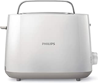 Philips HD2581/01 Electric Toaster, 2 slices, White, Plastic