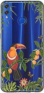Oihxse Case Transparente Suave TPU Compatible con Huawei Y7 2019/Y7pro 2019 Funda [Lindo Caricatura Flor Serie Dibujos] Cristal Protector Carcasa Anti Rasguños Bumper Cover-Loro 1