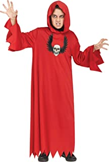 Fun World Ninja Red Costume, Medium 8 - 10, Multicolor