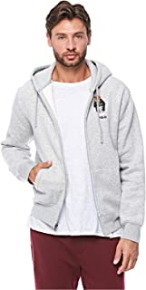 Polo Ralph Lauren Magic Fleece Hooded Jacket for Men - L, Grey