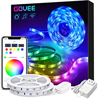 Govee 32.8ft LED Strip Lights Works with Alexa Google Home, Wireless Smart App Control..
