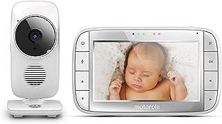 Motorola Baby MBP 48 Vigilabebés Vídeo con Pantalla LCD Modo Eco y Visión Nocturna Blanco
