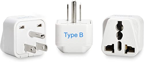 Ceptics AUS to US, Canada, Japan Universal Travel Plug Adapter (Type B) - Perfect for Traveling to N. America - Charg...