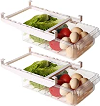 Missli Refrigerator Storage Rack Shelf Drawer 4Pcs Slide Fridge Storage Rack Refrige Shelf Kitchen Holder Pull-Out Drawer Plate Layer Retractable Refrigerator Partition Storage Rack