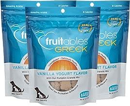 Fruitables 7 Ounce Greek Crunchy Dog Treats Vanilla Yogurt Flavor