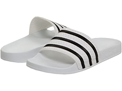 adidas Adilette (White/Black/White) Shoes