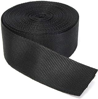 RETON 50mm Wide 10 Yards Black Nylon Heavy Polypro Webbing Strap