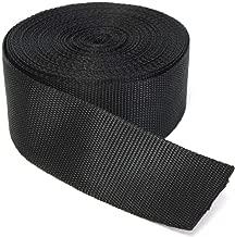RETON Black Nylon Heavy Polypro Webbing Straps (50MM, 10 Yards)