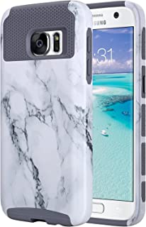 ULAK S7 Case, Galaxy S7 Case, Hybrid Case for Samsung Galaxy S7 2016 Release 2-Piece Dual Layer Style Hard Cover - Artistic Marble Pattern (Will not Fit S7 Edge)