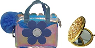 Kabello Women's Hologram Hand Clutch with Compact Mirror (Transparent; 20 gm)