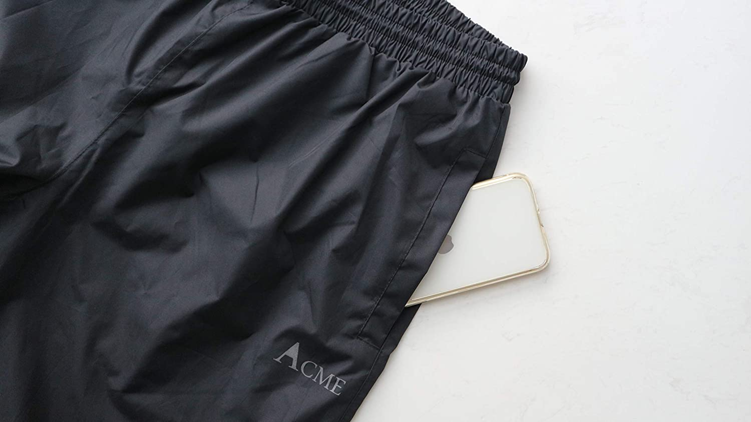 Breathable Taped Seam 10000mm//3000gm/… 100/% Waterproof Acme Projects Rain Pants