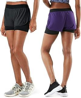 TSLA Women's High Waisted Bike Shorts, Workout Running Yoga Shorts with Pocket(Side/Hidden), Athletic Stretch Exercise Shorts