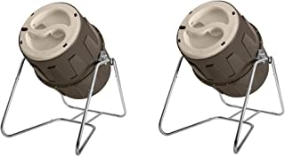 Suncast 6.5 Cubic Foot Tumbling Plastic Composter with Steel Frame (2 Pack)