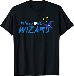 Ping Pong Wizard | table tennis shirt for men women kids