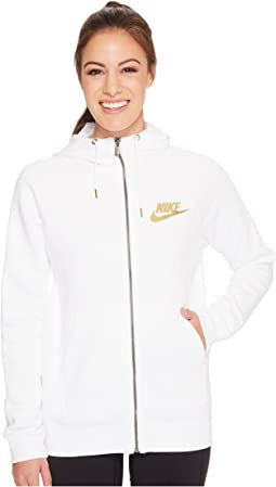 Nike - Sportswear Rally Metallic Full-Zip Hoodie