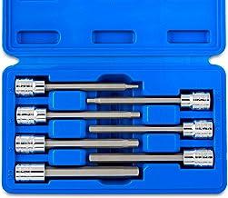 "Neiko 10076A 3/8"" Drive Extra Long Allen Hex Bit Socket Set, Metric, 3mm to 10mm |.."
