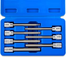 """Neiko 10076A 3/8"""" Drive Extra Long Allen Hex Bit Socket Set, Metric, 3mm to 10mm 