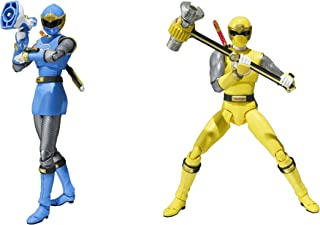 Bandai Tamashii Nations S.H. Figuarts Blue & Yellow Wind Ranger Set Power Rangers Ninja Storm Action Figure