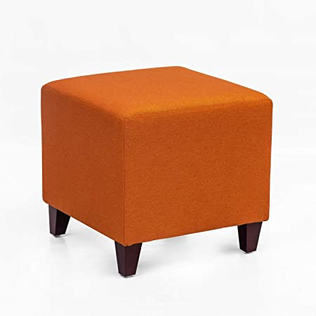 Amazon Com Adeco Simple British Style Cube Ottoman Footstool 16x16x16 Kitchen Dining