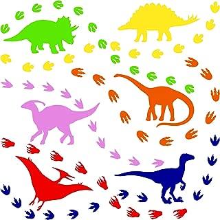 118 Pieces Dinosaur Footprints Sticker Dinosaur Wall Decals Self-Adhesive DIY Stickers for Room Decoration