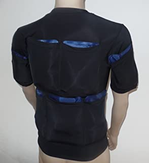 Burn Fat with Cold - Powerful Sliming Cooling T-Shirt 5400G - Size XL - Ice Packs Not Included