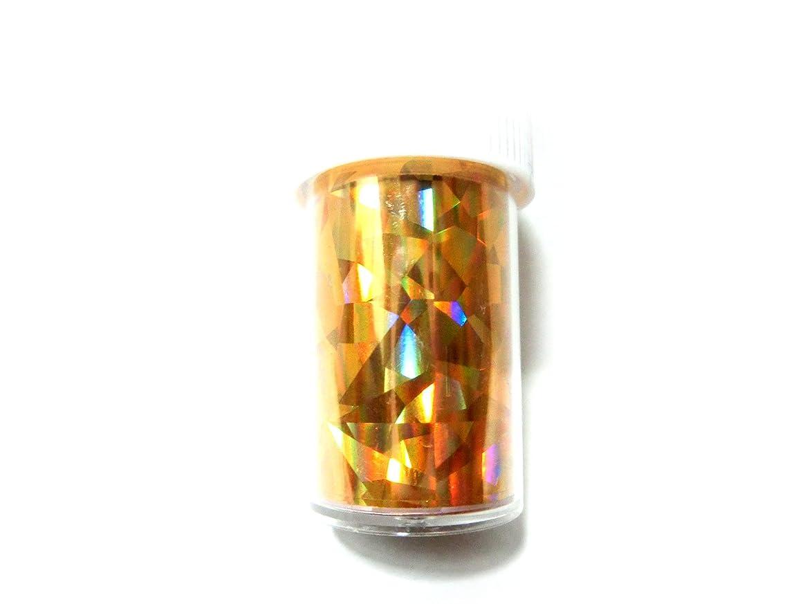 同化ドラゴンポスト印象派ネイルホイル (クリスタルゴールド)【ラインストーン77】