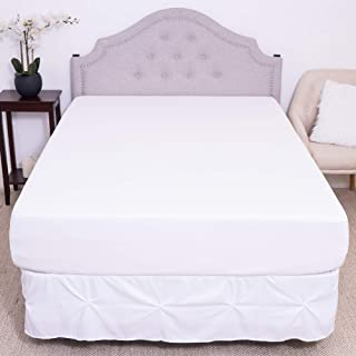 Premium Waterproof Mattress Protector – Soft Cotton Bed Guard with Membrane Back Coating Hypoallergenic Mattress Cover Protects Against Bedwetting, Dust Mites, Allergens, Twin, White