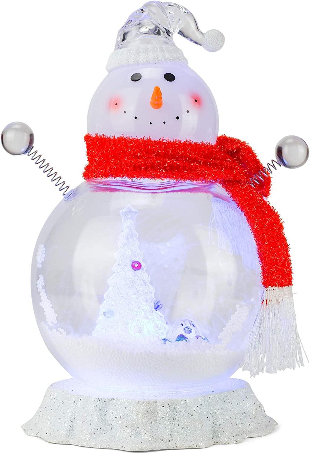 Roman shopping 133387 Led Snowman Snow Blowing Tree 13.5 M OFFicial mail order Penguin inch