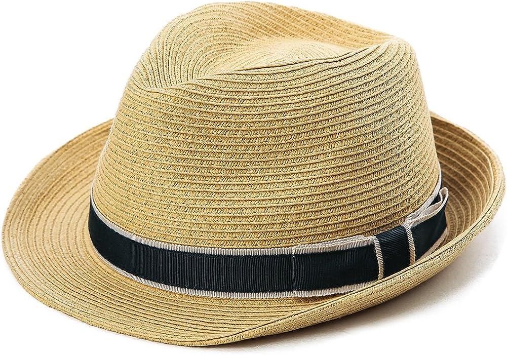 Fancet Kids Fedora Straw Sun Toddler Beach Fedora Hat Summer Short Brim UPF50 Boys Grils Hat
