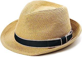 Fancet Packable Straw Fedora Panama Sun Summer Beach Hat Cuban Trilby Men Women 55-61cm