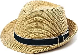 Packable Straw Fedora Panama Sun Summer Beach Hat Cuban Trilby Men Women 55-61cm
